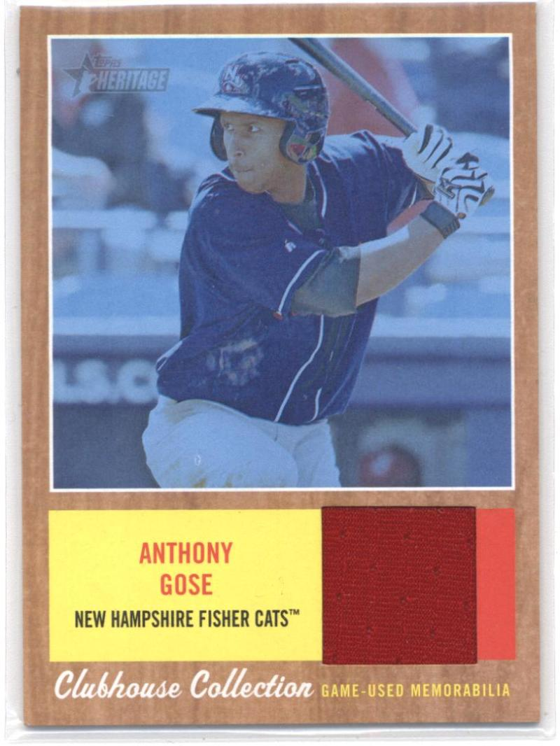 2011 Topps Heritage Minor League Clubhouse Collection Relics Blue Tint