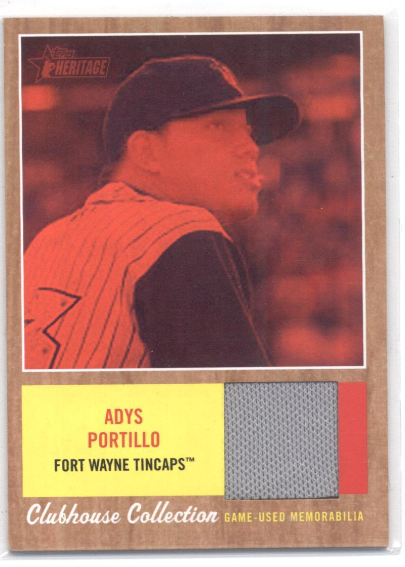 2011 Topps Heritage Minor League Clubhouse Collection Relics Red Tint