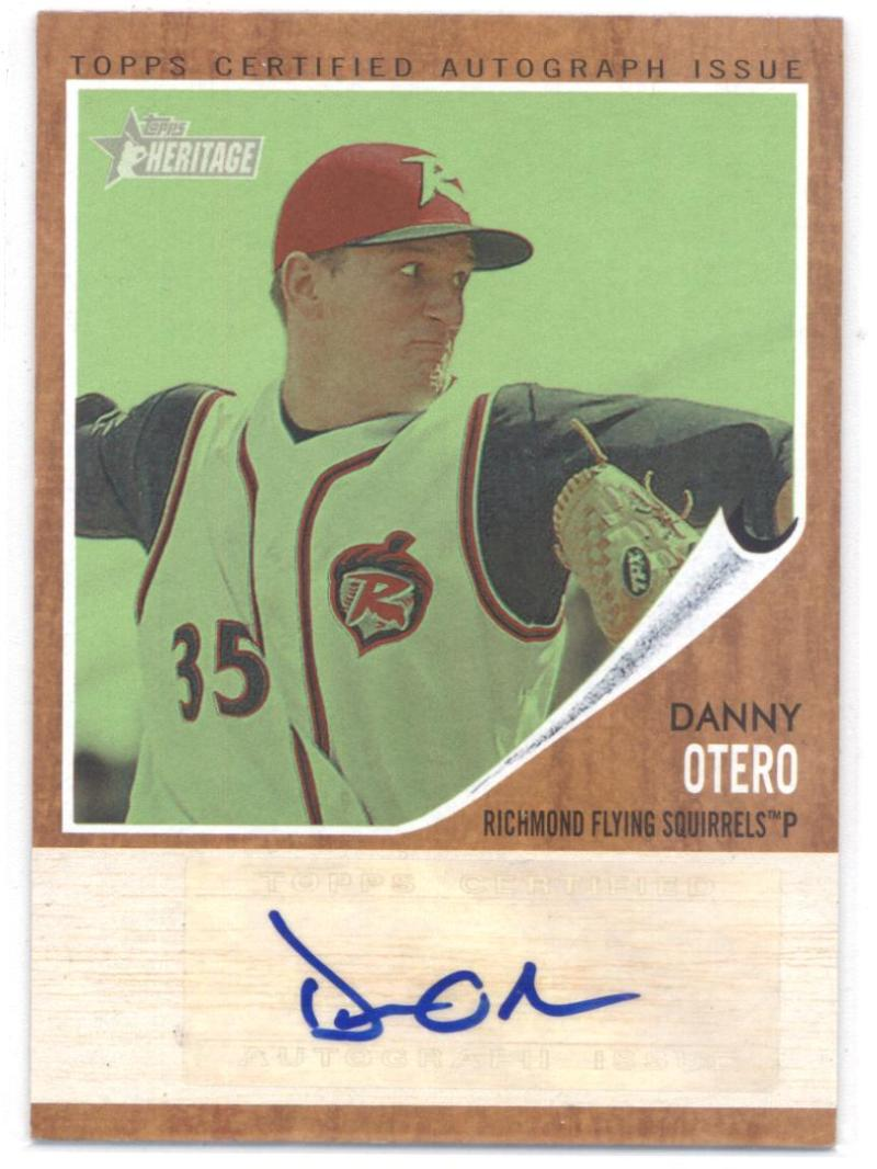 2011 Topps Heritage Minor League Real One Autographs Green Tint