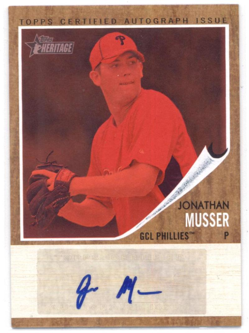 2011 Topps Heritage Minor League Real One Autographs Red Tint