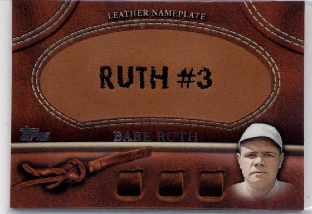 2011 Topps Update Manufactured Glove Leather Nameplates