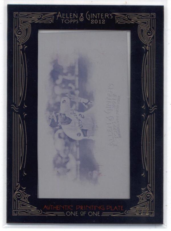 2012 Allen and Ginter  Mini Framed Print Plates Magenta