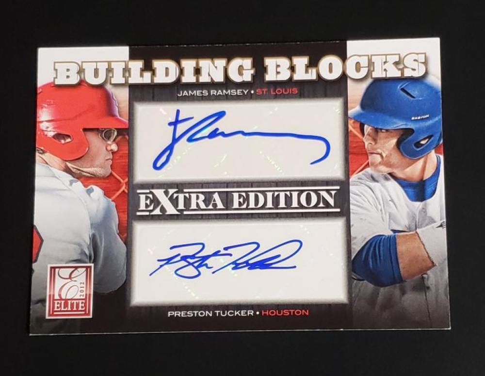 2012 Donruss Elite Building Blocks Dual Signatures