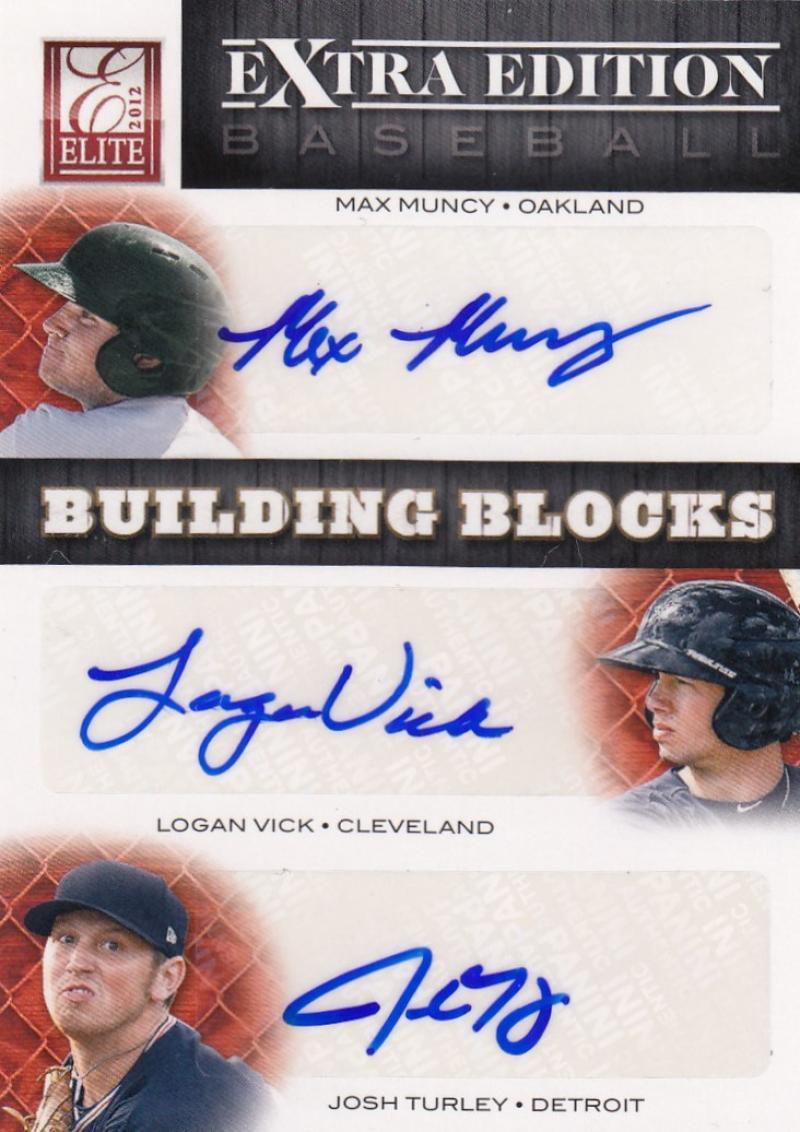 2012 Donruss Elite Building Blocks Trio Signatures