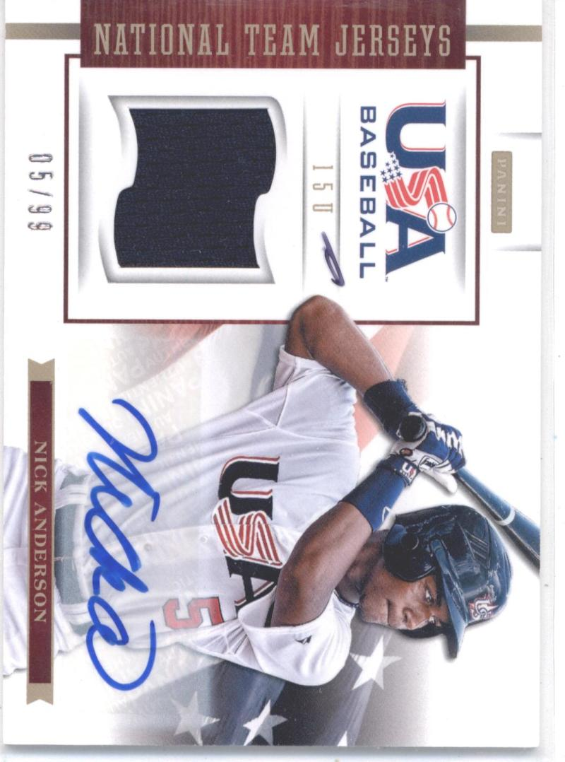 2012 Donruss Elite USA Baseball 15U Game Jersey Signatures