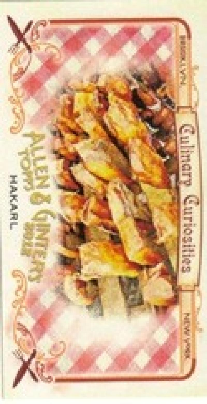 2012 Allen and Ginter  Mini Culinary Curiosities