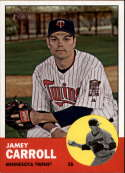 2012 Topps Heritage #80 Jamey Carroll NM-MT Minnesota Twins Official MLB Baseball Card