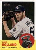 2012 Topps Heritage #82 Greg Holland NM-MT RC Kansas City Royals Official MLB Baseball Card