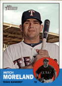 2012 Topps Heritage #180 Mitch Moreland NM-MT Texas Rangers Official MLB Baseball Card