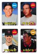 2013 Topps Archives 1969 4-in-1 Sticker #69S-BBMP Yogi Berra/Johnny Bench/Joe Mauer/Buster Posey NM-MT