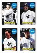 2013 Topps Archives 1969 4-in-1 Sticker #69S-RJMJ Babe Ruth/Reggie Jackson/Don Mattingly/Derek Jeter NM-MT