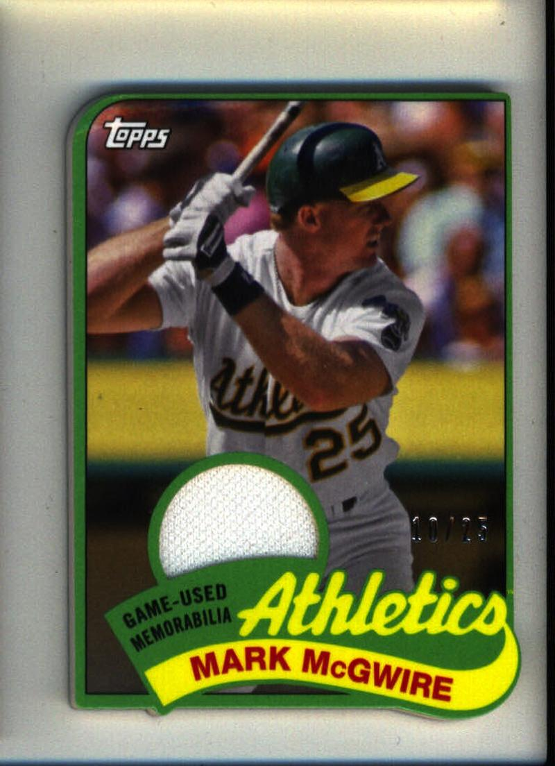 2014 Topps 1989 Topps Mini Die Cut Relics #TMR-MM Mark McGwire Oakland Athletics (Memorabilia / Game Used) /25 NM-MT MLB