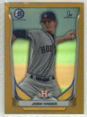 2014 Bowman Chrome Prospects Refractor Gold #BCP69 Josh Hader Houston Astros /50 NM-MT MLB