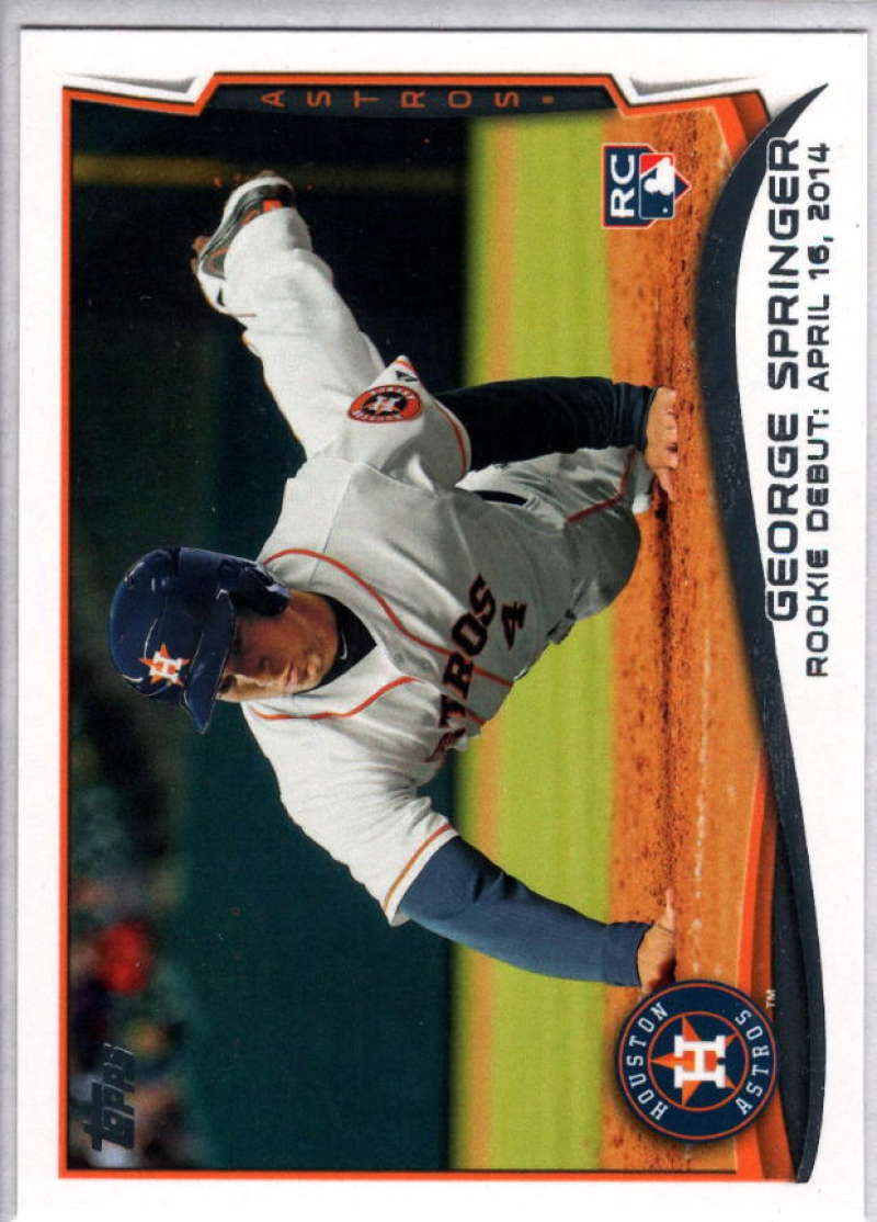 Baseball MLB 2014 Topps Update #US-210 George Springer  RC Rookie Astros