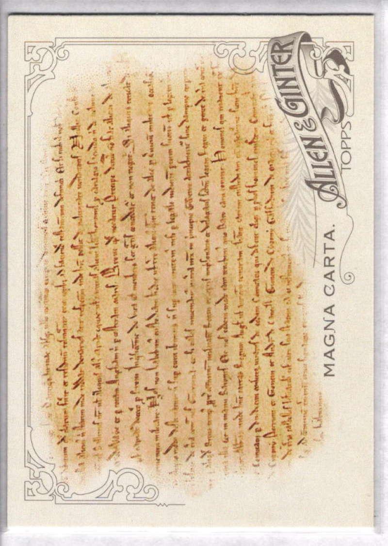 2015 Allen and Ginter #297 Magna Carta NM-MT