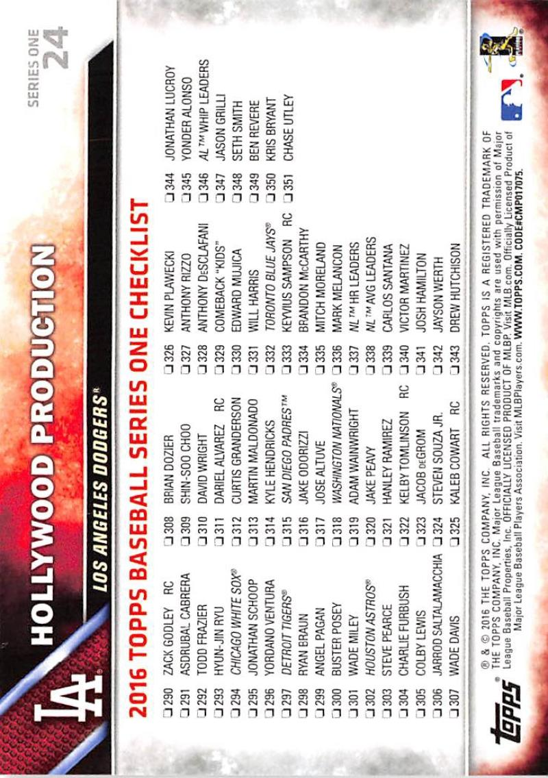 thumbnail 40 - 2016 Topps Baseball Cards Pick From List 1-251