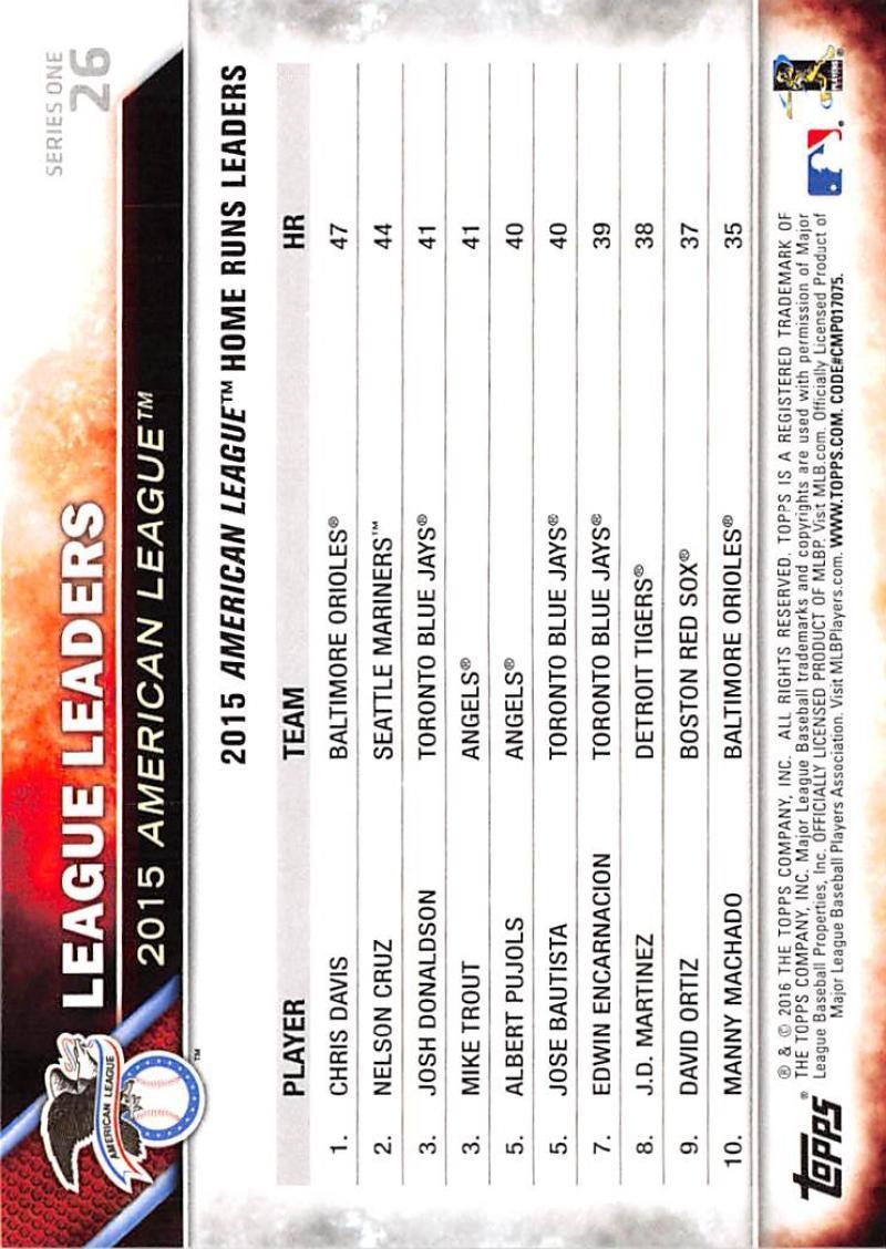 thumbnail 44 - 2016 Topps Baseball Cards Pick From List 1-251