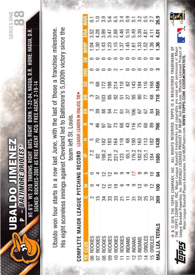 thumbnail 136 - 2016 Topps Baseball Cards Pick From List 1-251