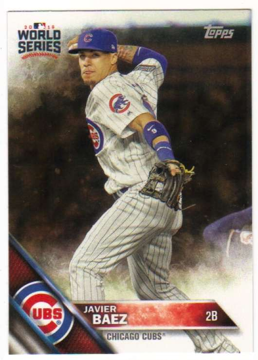 2016 Topps Chicago Cubs World Series Champions Box Set Break #WS-22 Javier Baez Chicago Cubs  Official MLB Trading Card (One Baseball Card)