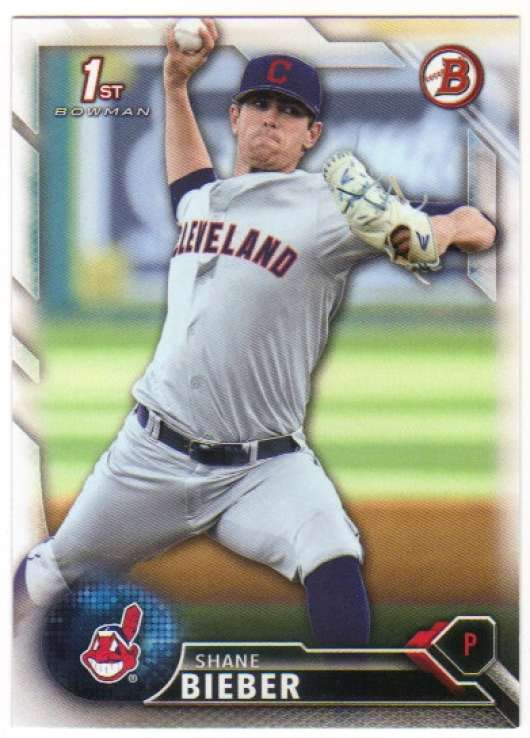 2016 Bowman Draft #BD-68 Shane Bieber NM+
