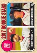 2017 Topps Heritage #314 Robby Scott/Andrew Benintendi RC Rookie Red Sox NM-MT