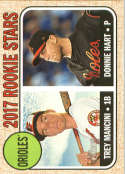 2017 Topps Heritage #396 Donnie Hart/Trey Mancini RC Rookie Orioles NM-MT