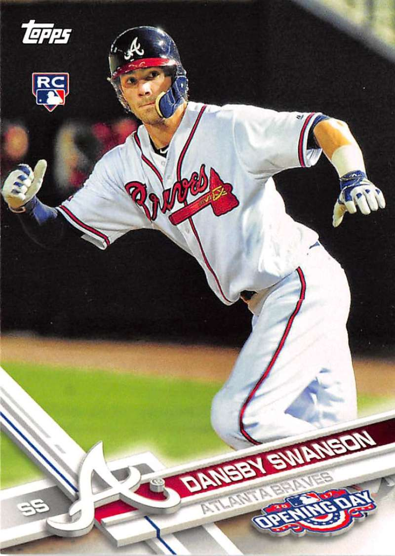 2017 Opening Day #195 Dansby Swanson NM-MT RC Rookie Braves