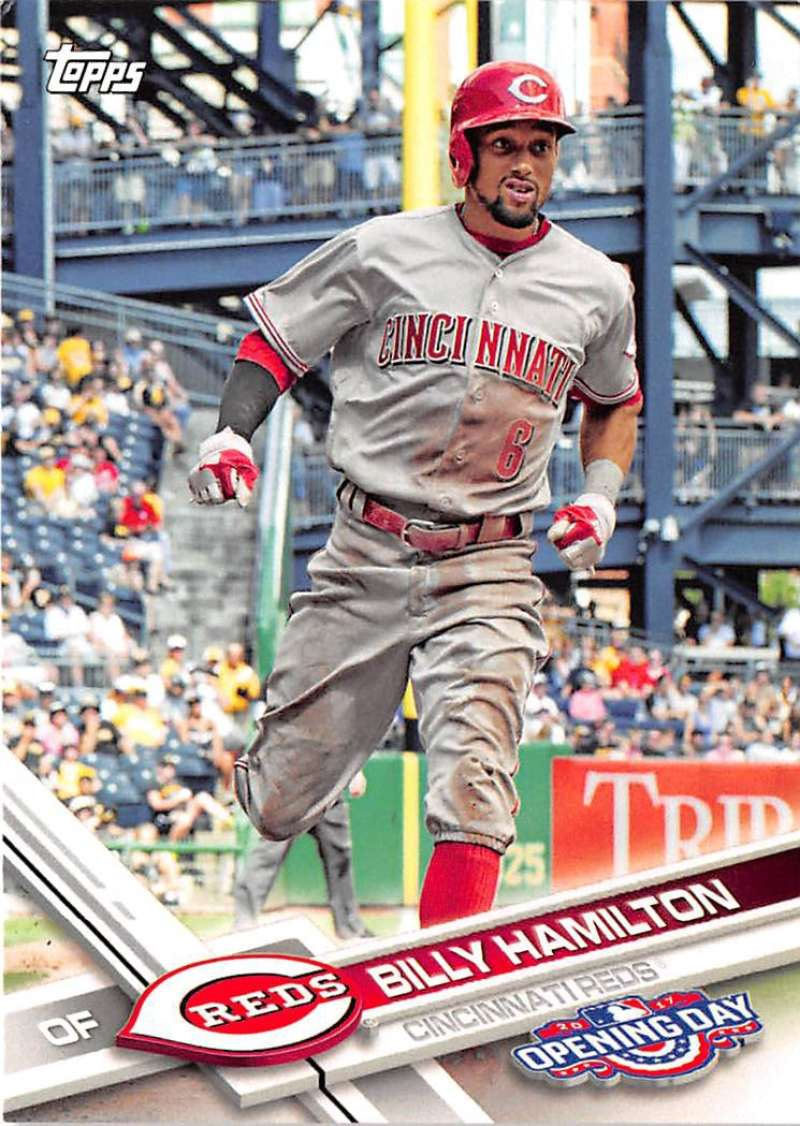 2017 Opening Day #199 Billy Hamilton NM-MT Reds
