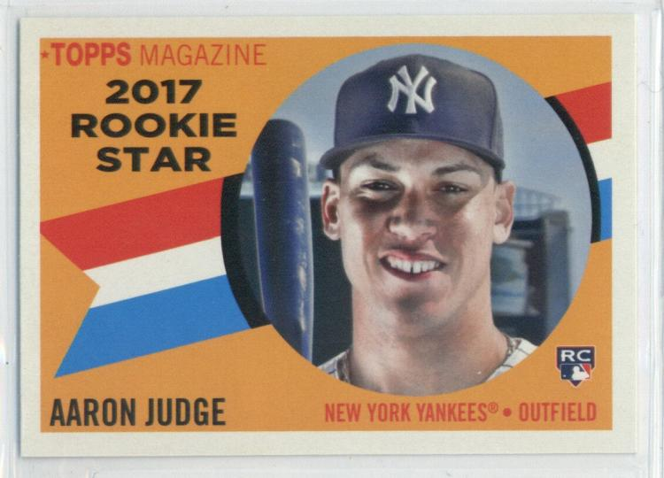 2017 Topps Archives 1960 Rookie Star #RS-9 Aaron Judge New York Yankees