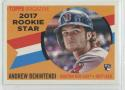 2017 Topps Archives 1960 Rookie Star #RS-3 Andrew Benintendi Boston Red Sox