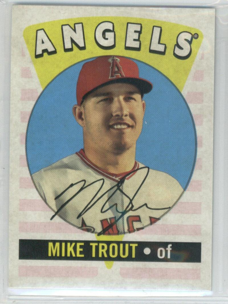 2017 Topps Archives Retro Original #RO-14 Mike Trout Los Angeles Angels