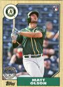 2017 Topps '87 1987 30th Anniversary #87-142 Matt Olson Oakland Athletics