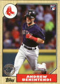2017 '87 1987 30th Anniversary #87-164 Andrew Benintendi Boston Red Sox