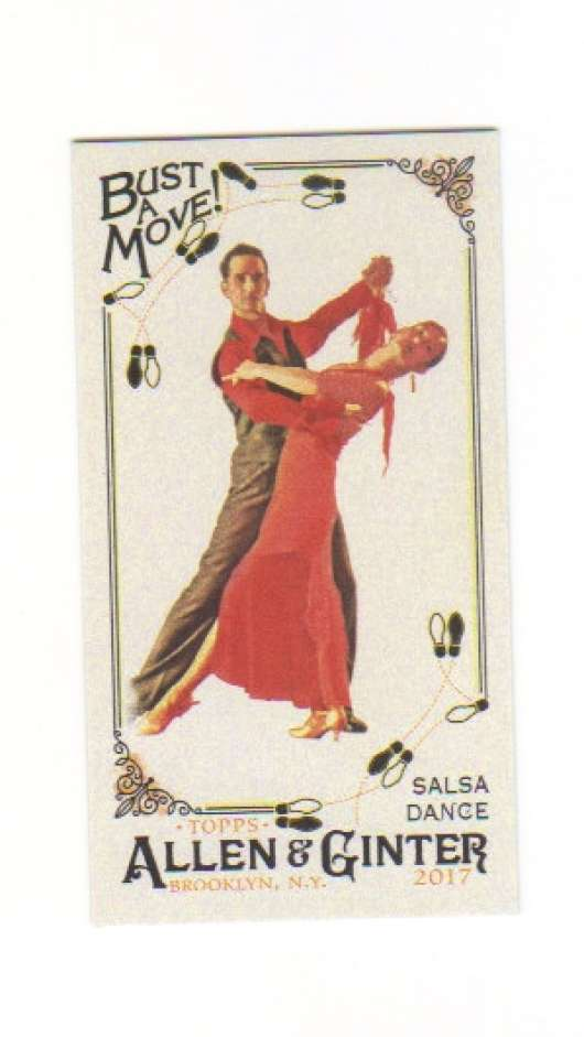 2017 Topps Allen and Ginter Bust a Move Mini #BAM-11 Salsa Dance