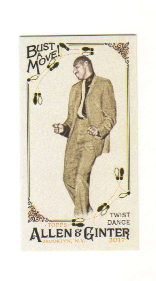 2017 Topps Allen and Ginter Bust a Move Mini #BAM-13 Twist Dance