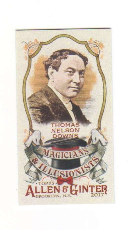 2017 Topps Allen and Ginter Magicians and Illusionists Mini #MI-7 Thomas Nelson Downs