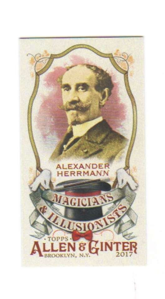 2017 Topps Allen and Ginter Magicians and Illusionists Mini #MI-9 Alexander Herrmann