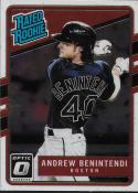 2017 Donruss Optic #34 Andrew Benintendi Boston Red Sox Rated Rookie