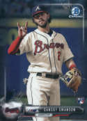 2017 Bowman Chrome #86 Dansby Swanson RC Atlanta Braves