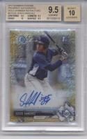2017 Bowman Chrome Prospects Autographs Gold Shimmer Refractor #CPA-JS Jesus Sanchez Tampa Bay Rays (Autographed) /50 BGS 9.5 Gem Mint MLB