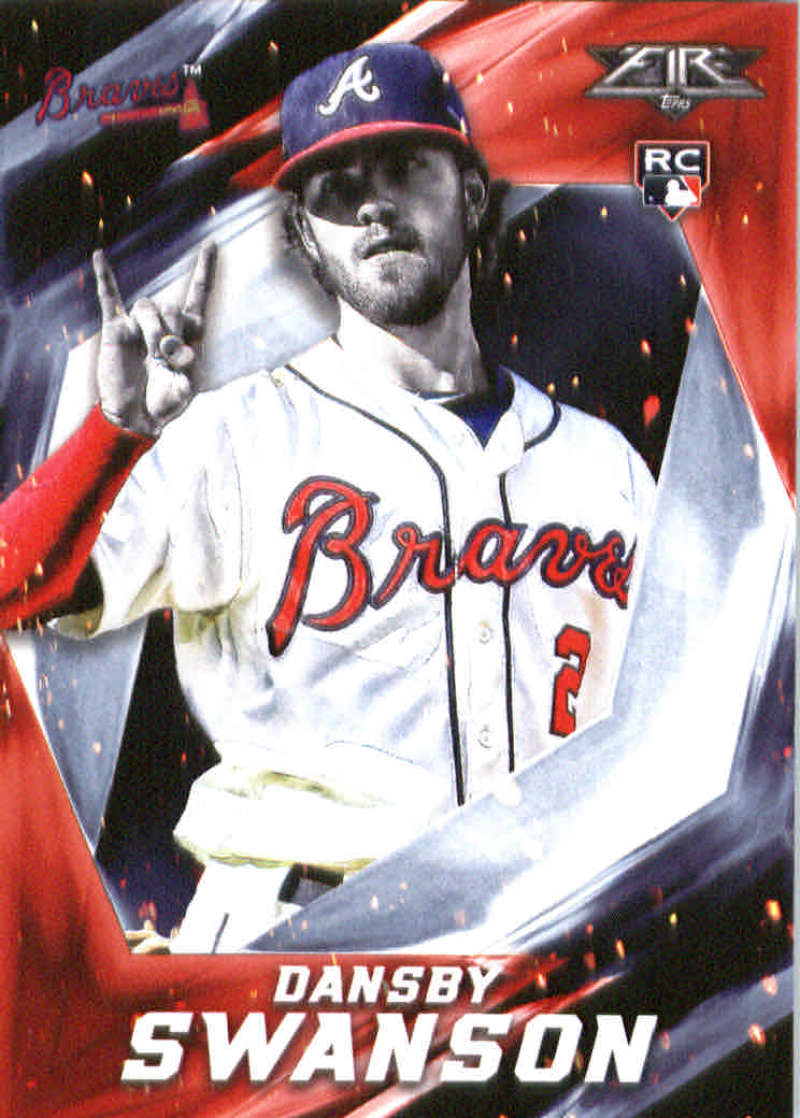 2017 Topps Fire #162 Dansby Swanson NM+ RC Rookie