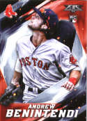 2017 Topps Fire #65 Andrew Benintendi RC Rookie Boston Red Sox