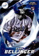 2017 Topps Fire #121 Cody Bellinger RC Rookie Los Angeles Dodgers