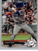 2017 Bowman Draft #BD-180 Connor Wong Los Angeles Dodgers