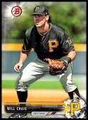 2017 Bowman Draft #BD-189 Will Craig Pittsburgh Pirates