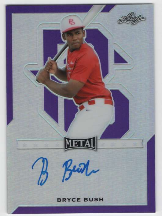 2017 Leaf Metal Perfect Game All-American Prismatic Autographs Purple