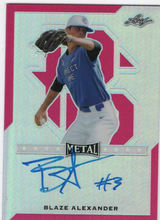 2017 Leaf Metal Perfect Game All-American Prismatic Autographs Pink