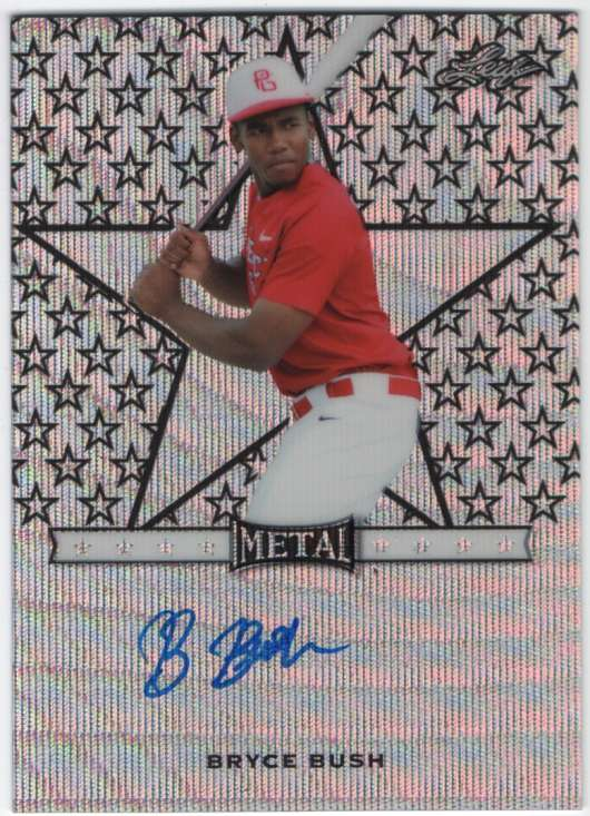 2017 Leaf Metal Perfect Game All-American Star Etched Autographs Black