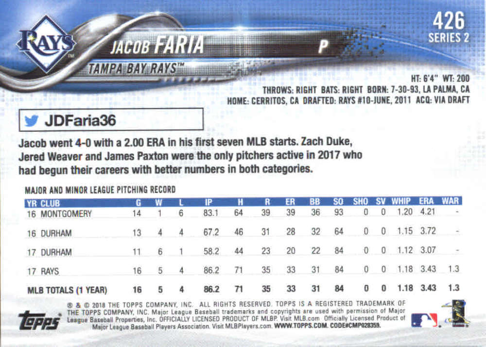 2018-Topps-Series-2-Baseball-Base-Singles-351-550-Pick-Your-Cards thumbnail 151