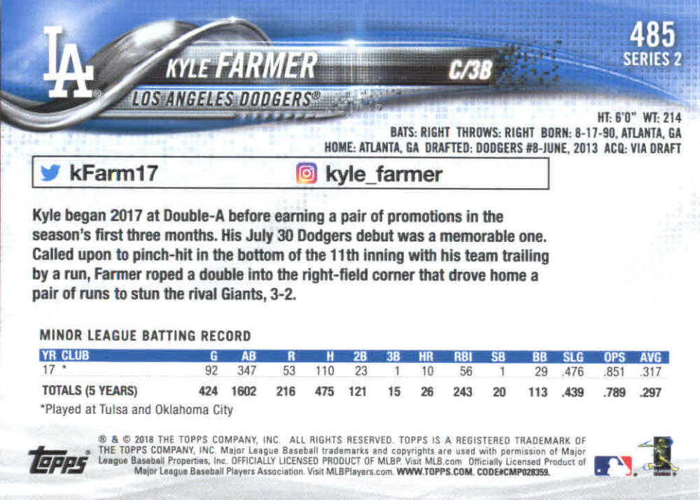 2018-Topps-Series-2-Baseball-Base-Singles-351-550-Pick-Your-Cards thumbnail 267